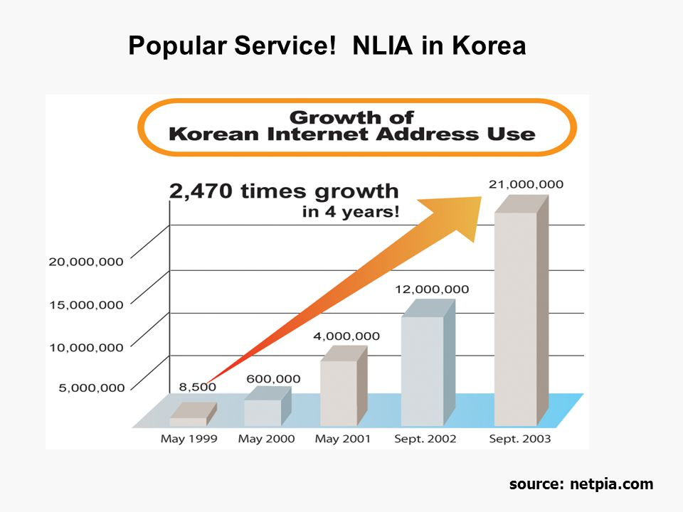 Popular Service! NLIA in Korea source: netpia.com