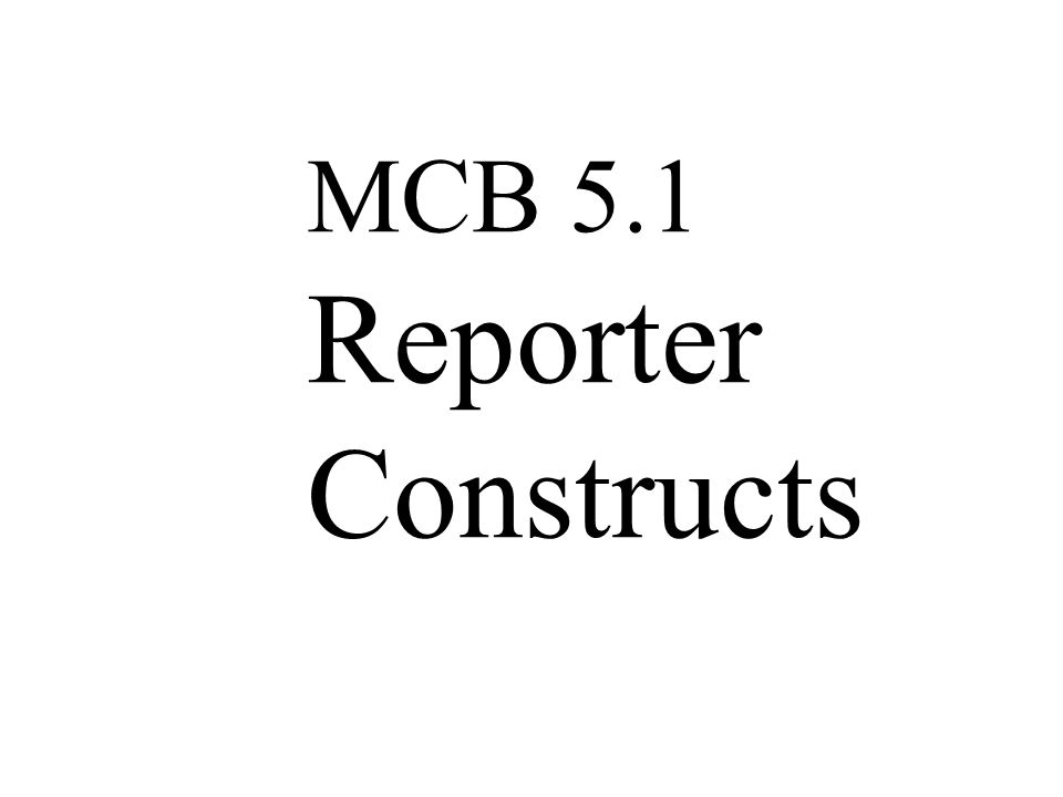 MCB 5.1 Reporter Constructs