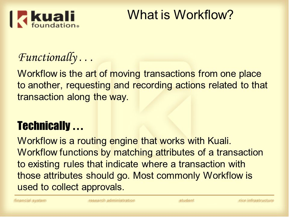 How does Workflow work.
