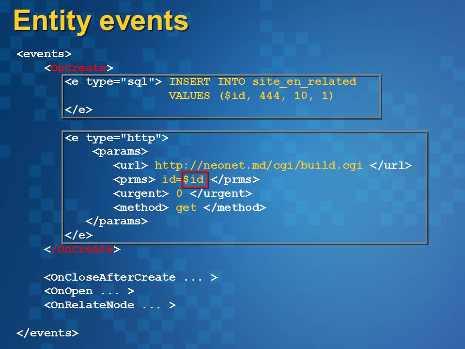 INSERT INTO site_en_related VALUES ($id, 444, 10, 1) http://neonet.md/cgi/build.cgi id=$id 0 get Entity events