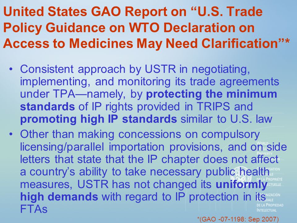 United States GAO Report on U.S.