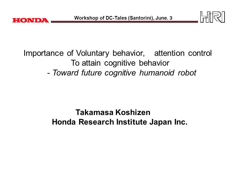 Content Part 1: Humanoid robot - Asimo Part 2: Basic concept model Part 3: Application concept model Cf.
