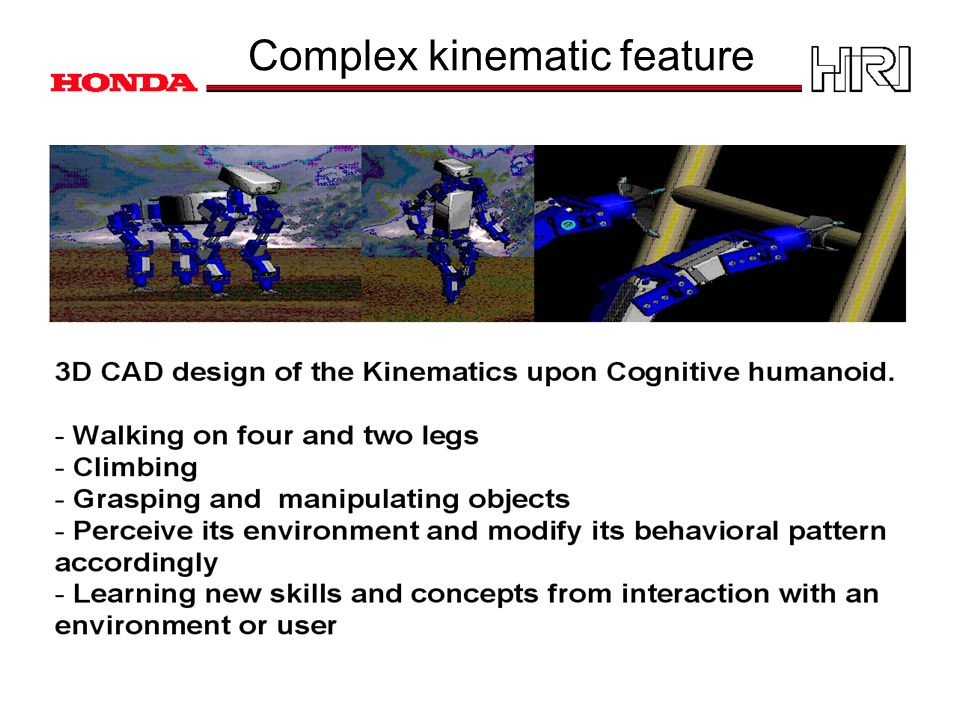 Complex kinematic feature