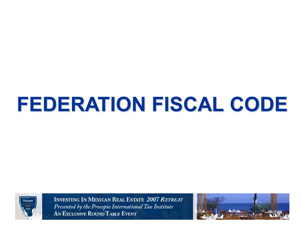 FEDERATION FISCAL CODE