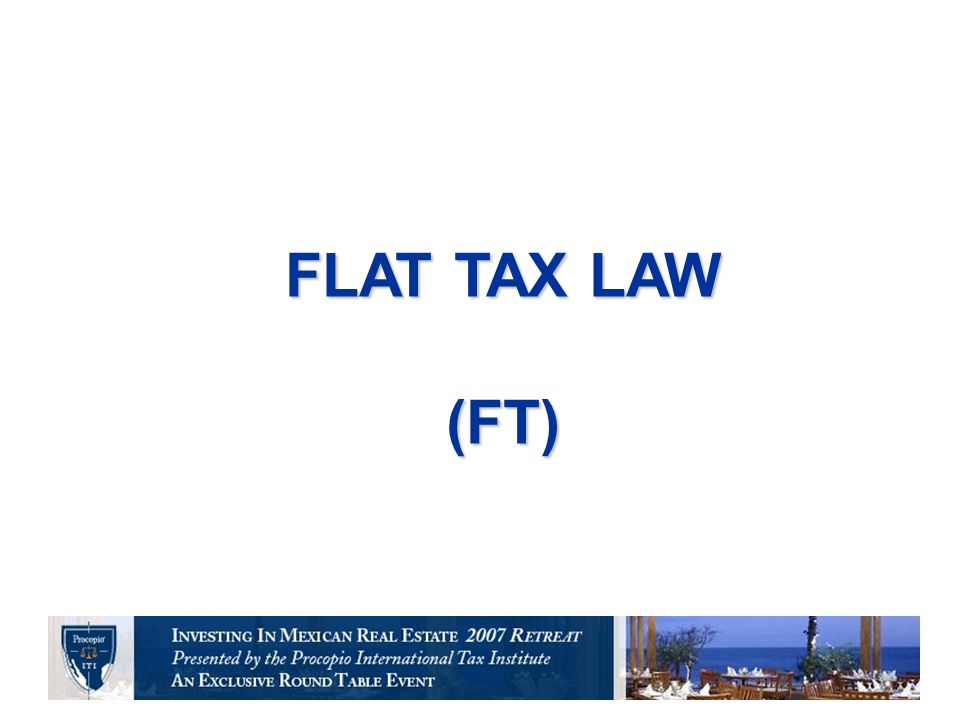  CONSIDERATIONS: Asset tax elimination Control tax.