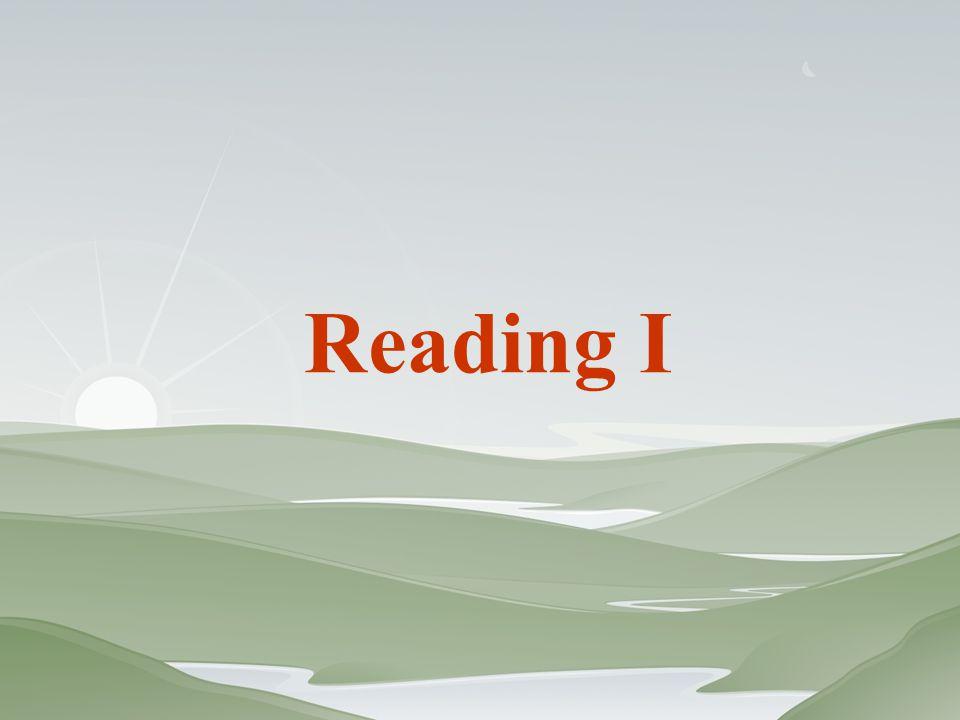 Reading I