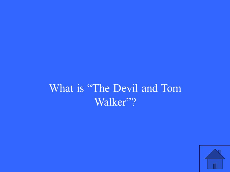 What is The Devil and Tom Walker