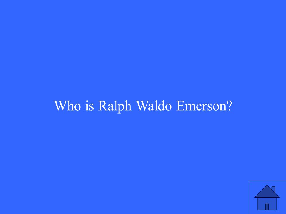 Who is Ralph Waldo Emerson