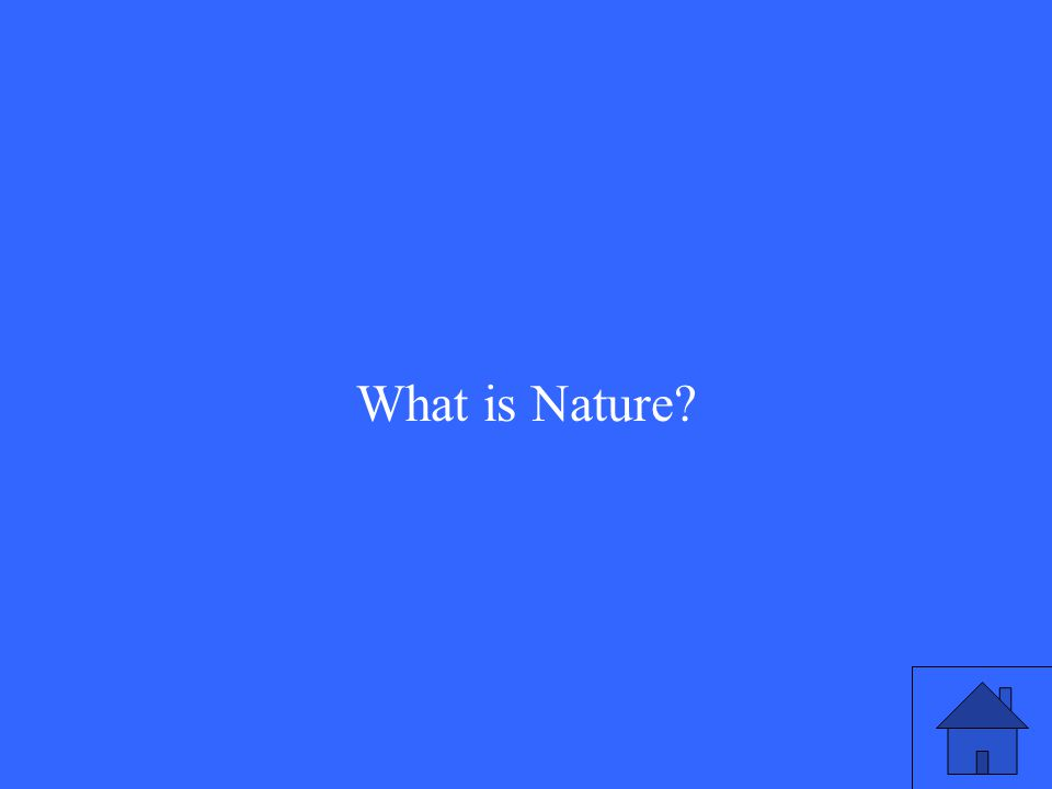 What is Nature