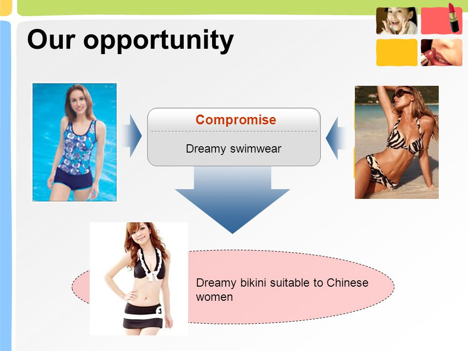 Our opportunity Compromise Dreamy swimwear Dreamy bikini suitable to Chinese women