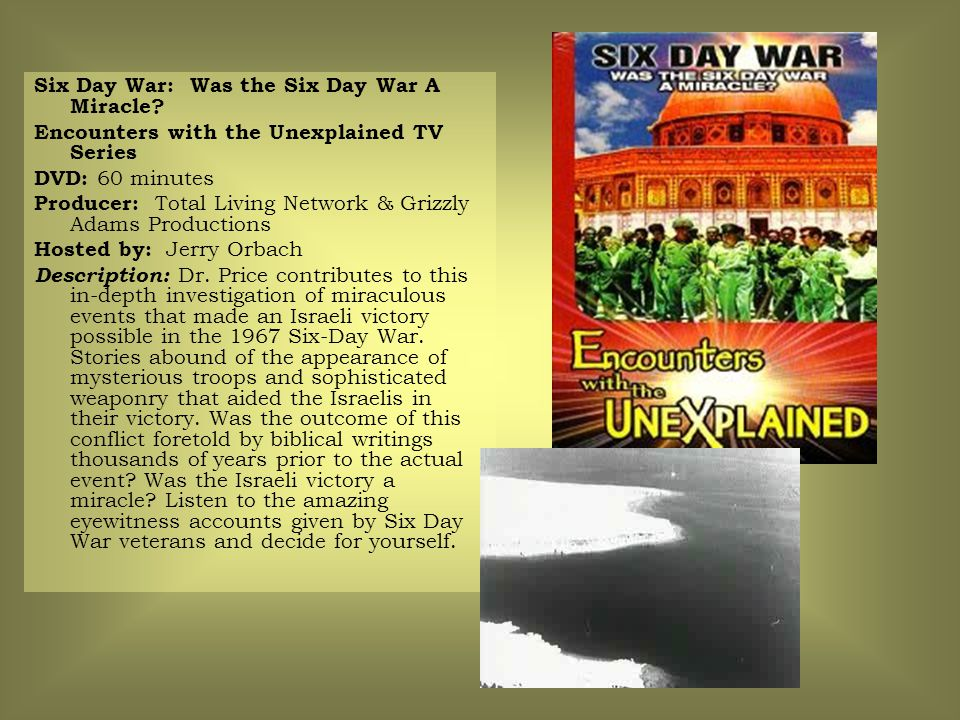 Six Day War: Was the Six Day War A Miracle.
