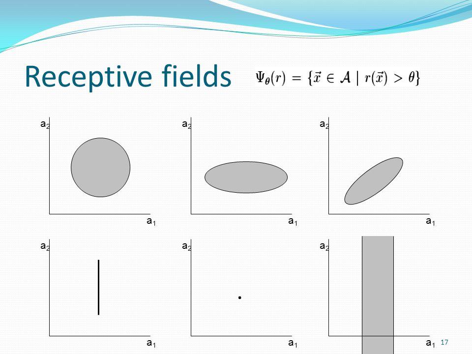 Receptive fields a1a1 a2a2 a1a1 a2a2 a1a1 a2a2 a1a1 a2a2 a1a1 a2a2. a1a1 a2a2 17