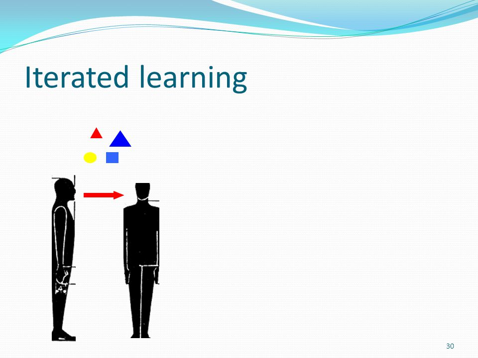 Iterated learning 30