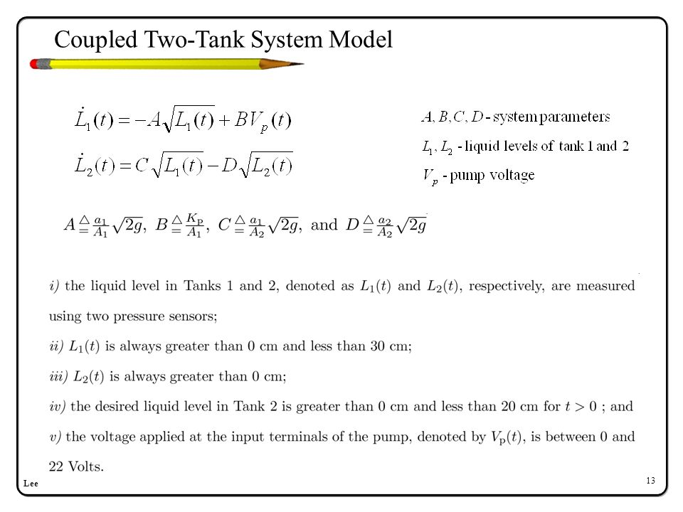 Lee 13 Coupled Two-Tank System Model