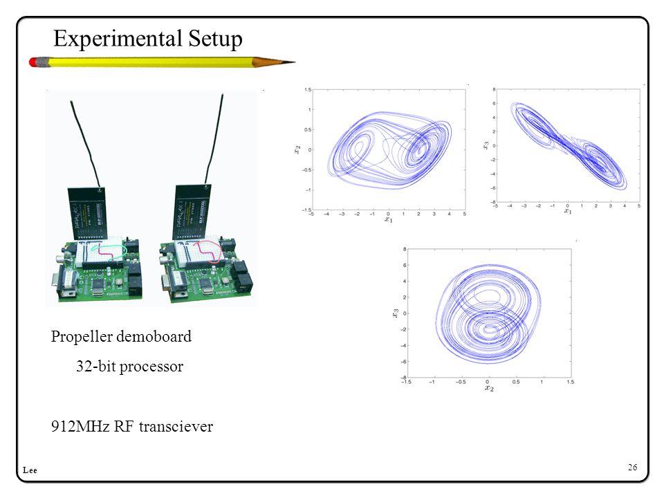Lee 26 Propeller demoboard 32-bit processor 912MHz RF transciever Experimental Setup