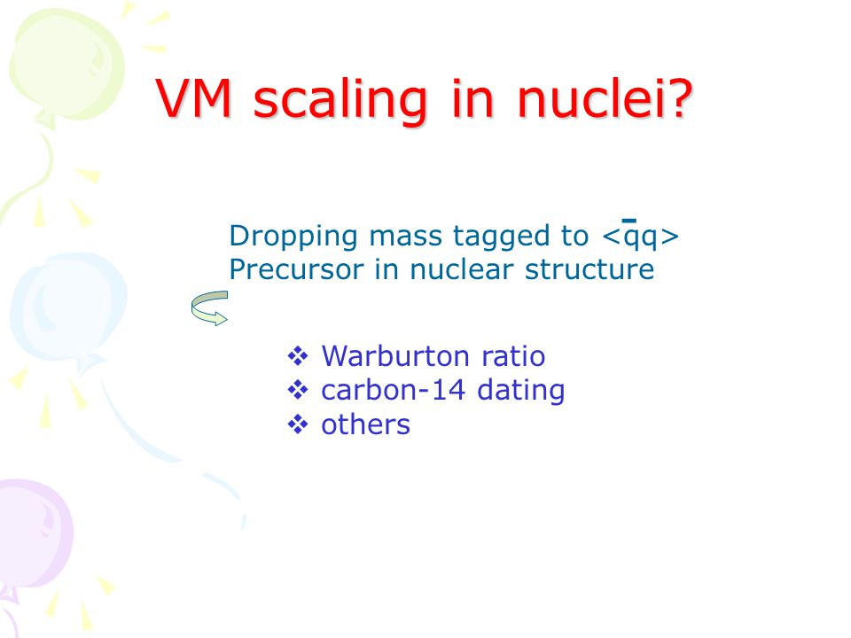 VM scaling in nuclei.