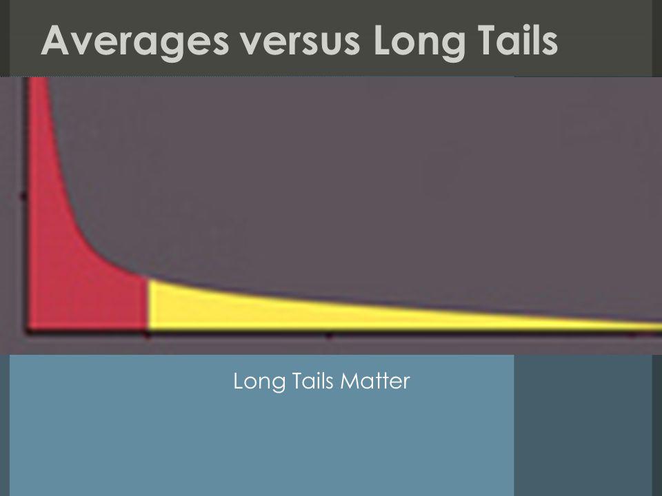 Averages versus Long Tails Long Tails Matter
