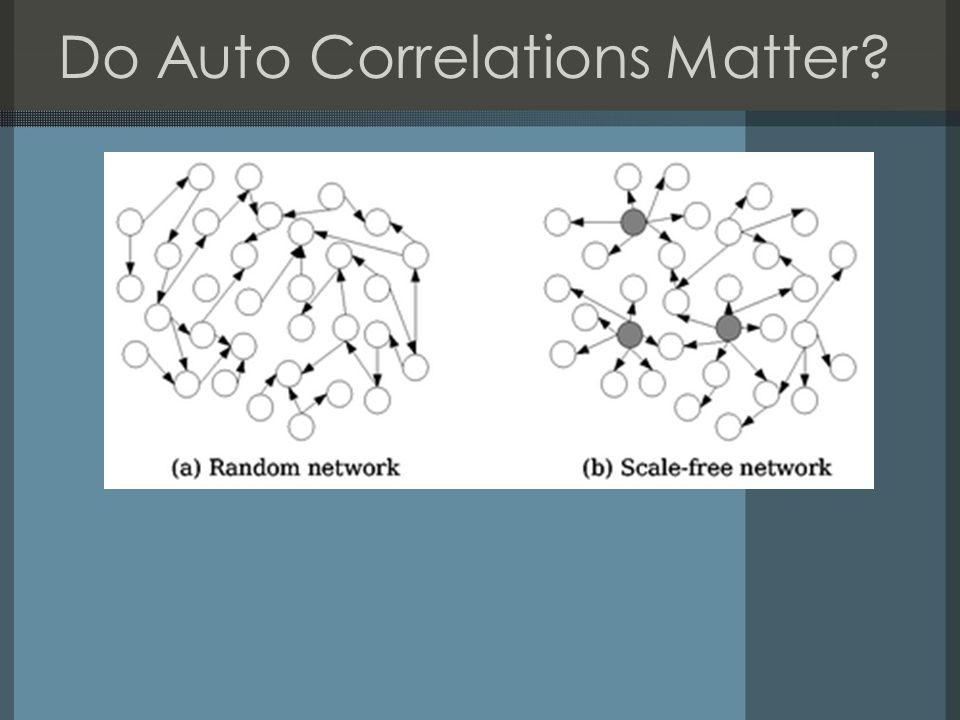 Do Auto Correlations Matter