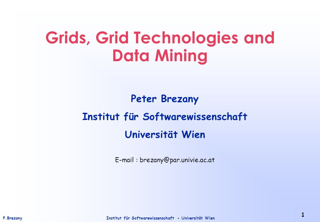 Institut für Softwarewissenschaft - Universität WienP.Brezany 22 Resource: Sharing Single Resources The Resource layer defines protocols (and APIs and SDK´s) for secure initiation, monitoring, and control of sharing operations on individual resources.