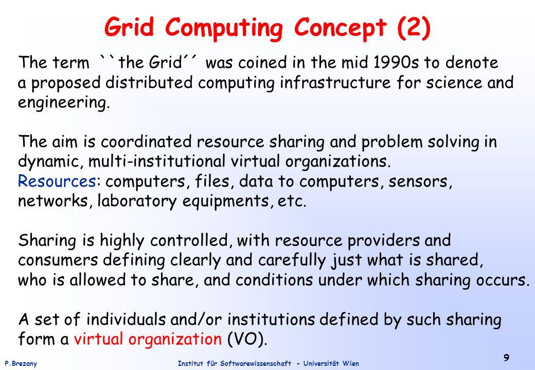 Institut für Softwarewissenschaft - Universität WienP.Brezany GridMiner A Framework for Data Mining on Grids A new research field