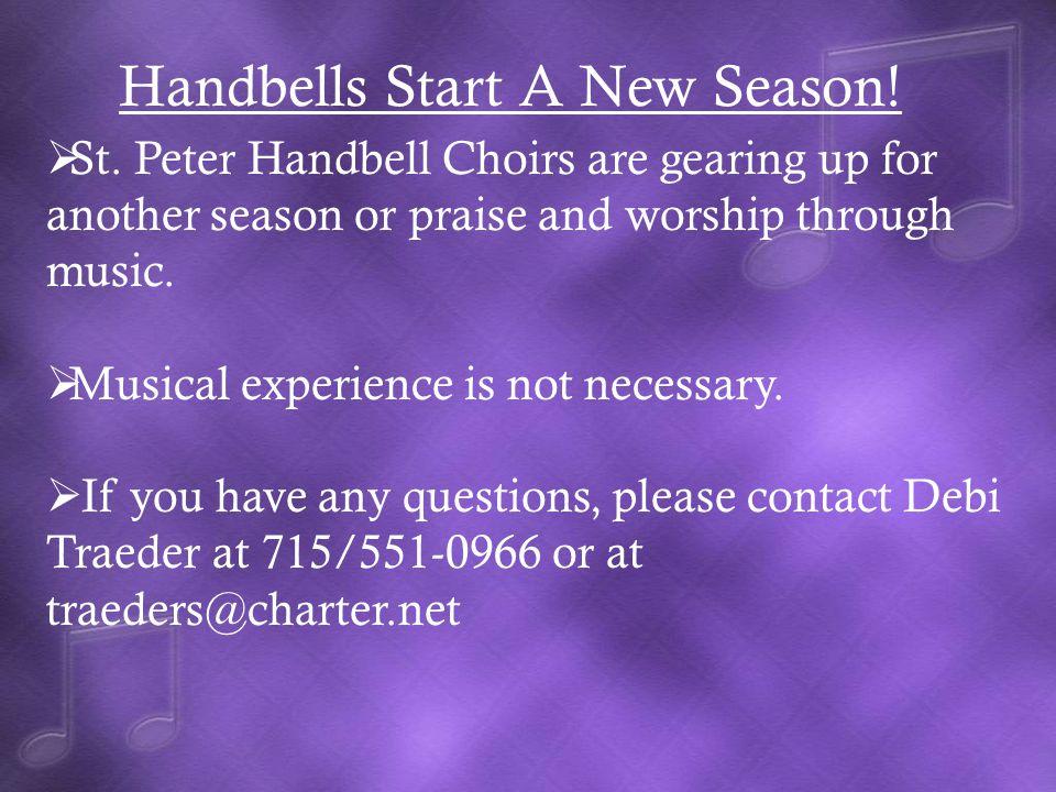 Handbells Start A New Season. St.