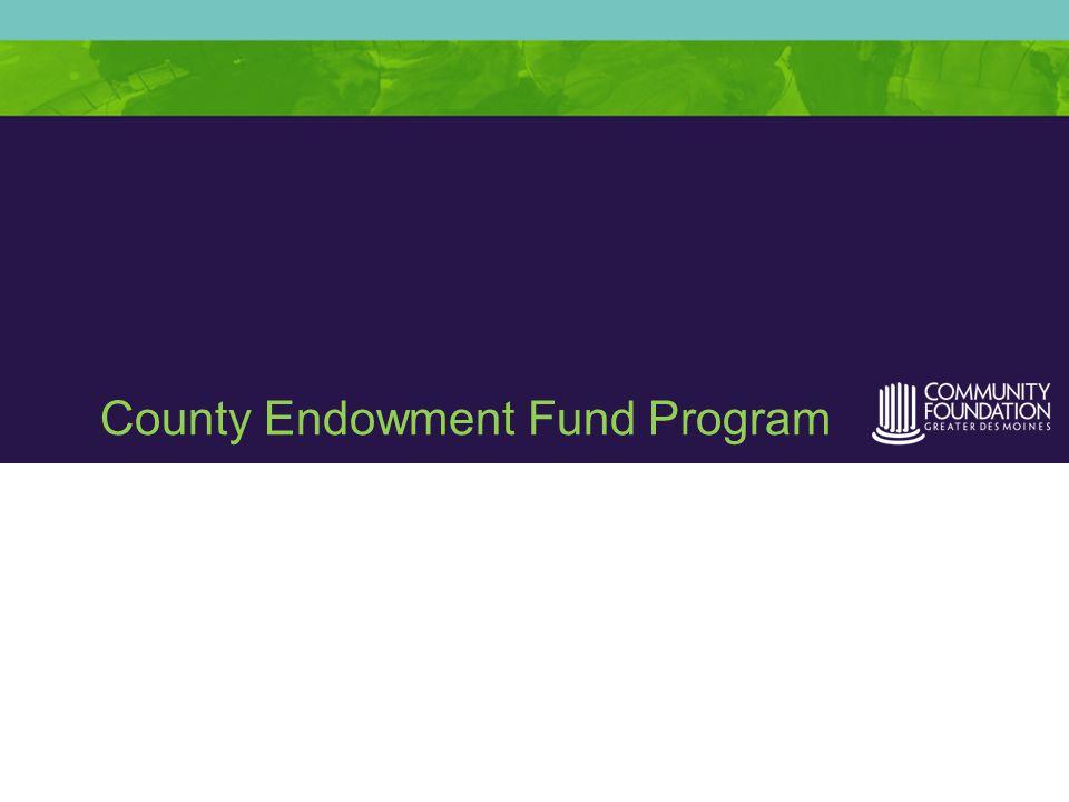 County Endowment Fund Program