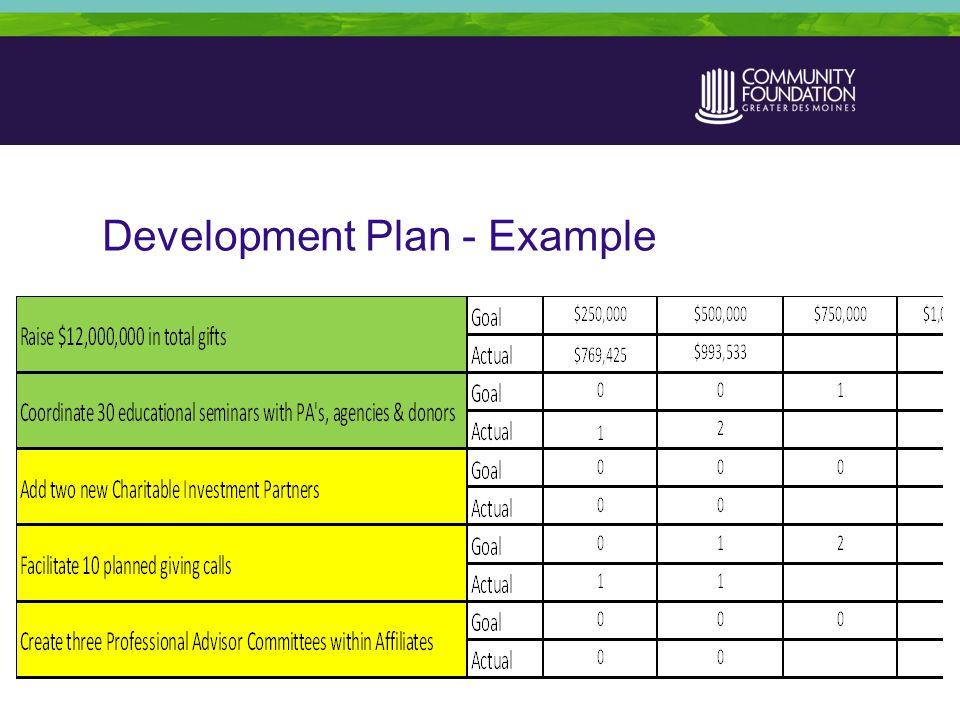 Development Plan - Example