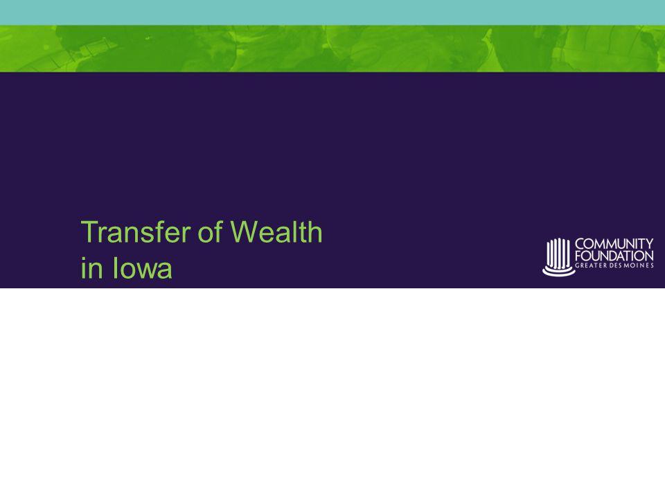 Transfer of Wealth in Iowa