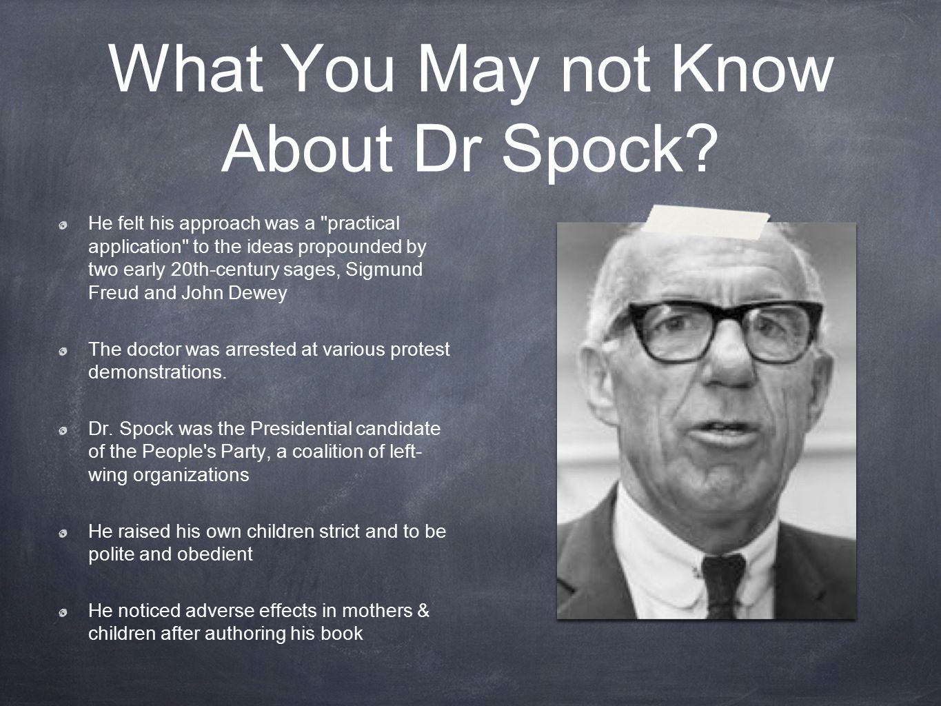 What You May not Know About Dr Spock.