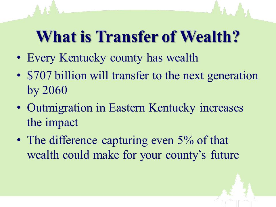 What is Transfer of Wealth.