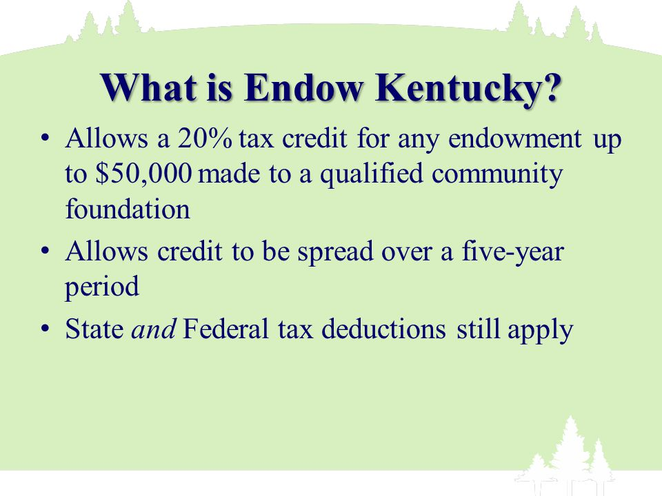 What is Endow Kentucky.