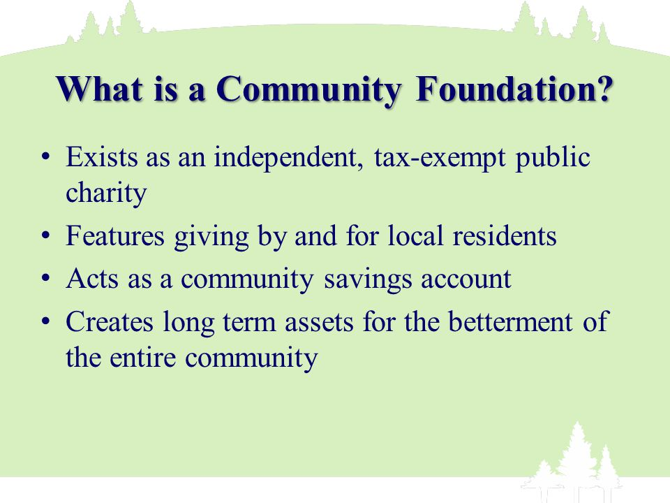 What is a Community Foundation.