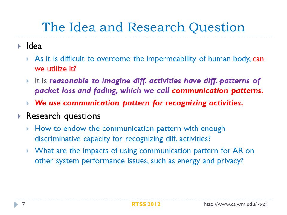 The Idea and Research Question 7  Idea  As it is difficult to overcome the impermeability of human body, can we utilize it.