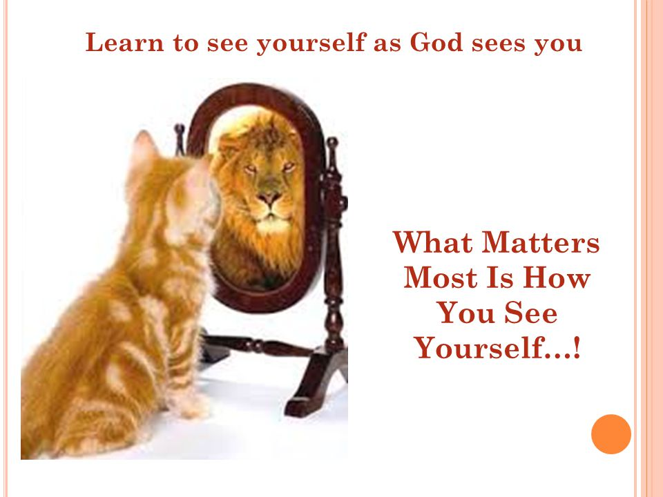 How does God see you.