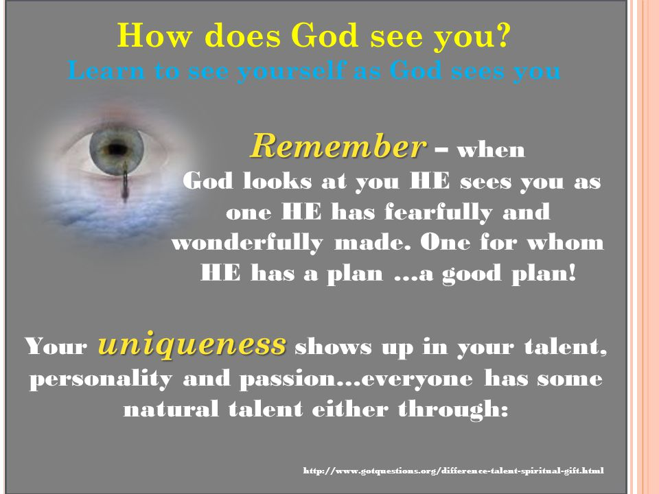How does God see