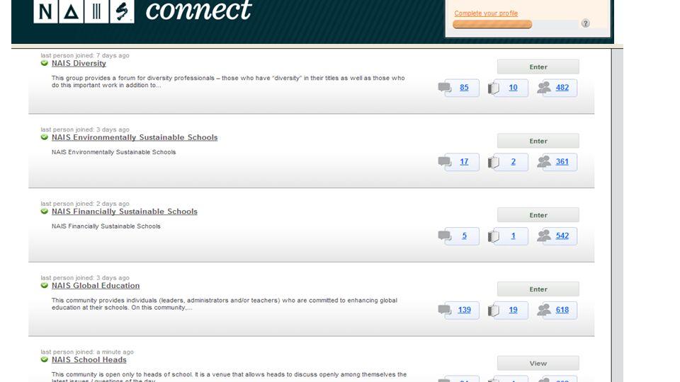 New Online Communities
