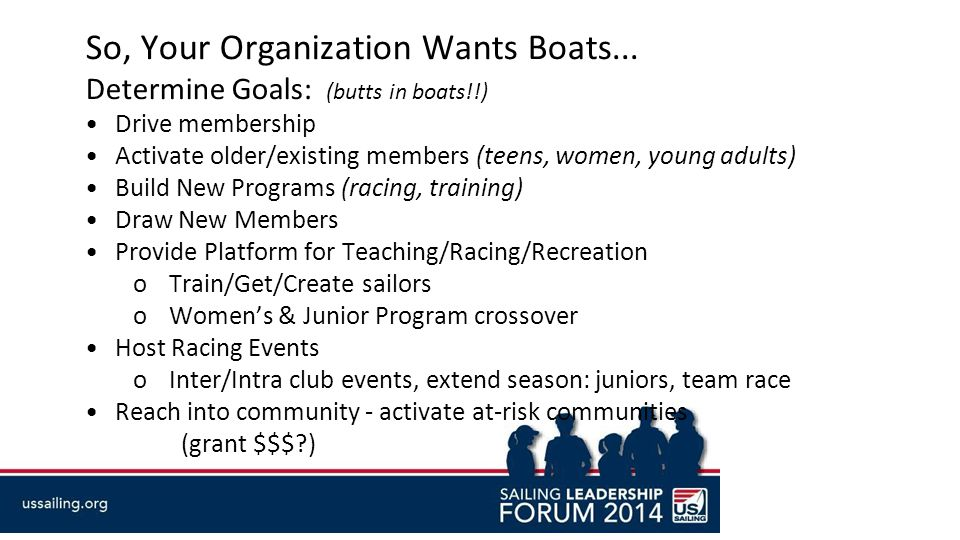 So, Your Organization Wants Boats...