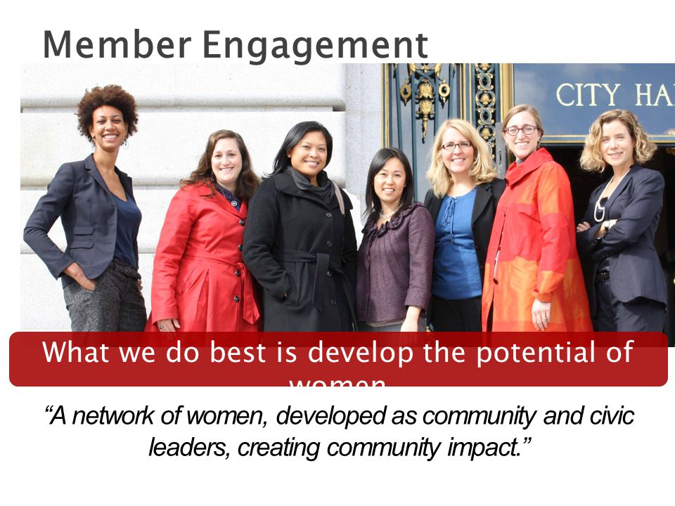 What we do best is develop the potential of women Member Engagement