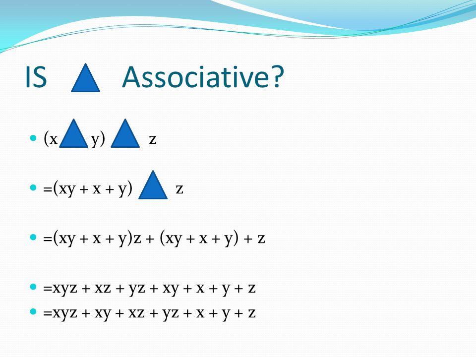 IS Associative.
