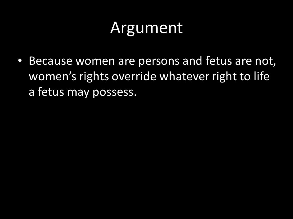 On the definition of Human (1) it is wrong to kill innocent human beings → human being has the moral sense (2) fetuses are innocent human beings → human being has the genetic sense it is wrong to kill fetuses