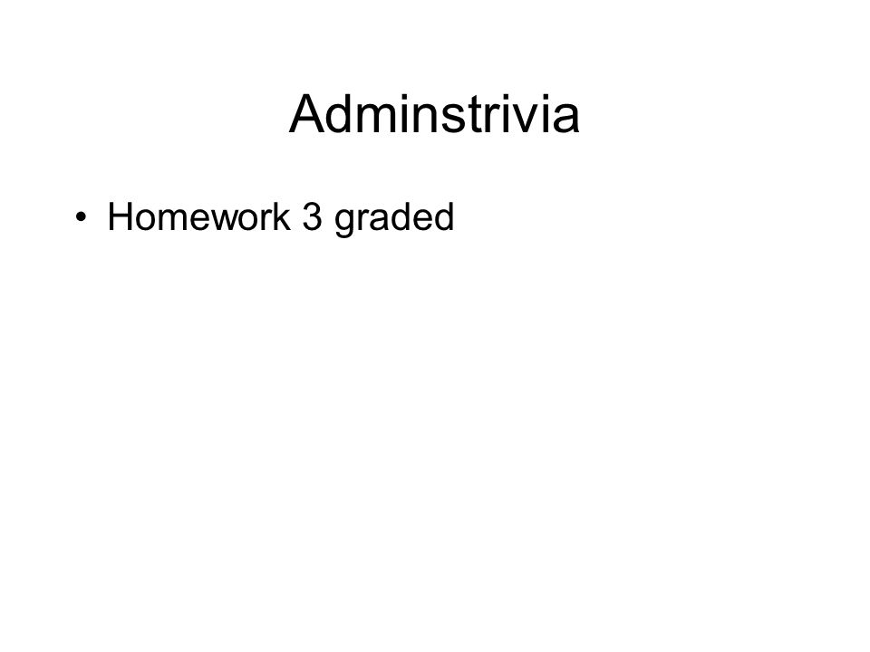 Adminstrivia Homework 3 graded