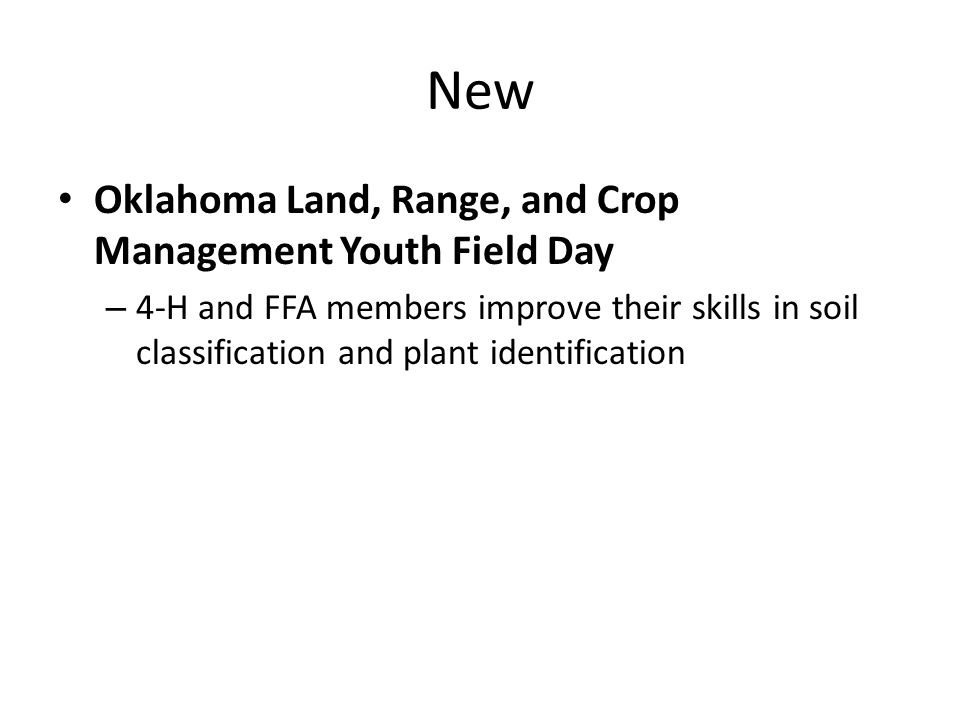 New Oklahoma Land, Range, and Crop Management Youth Field Day – 4-H and FFA members improve their skills in soil classification and plant identification