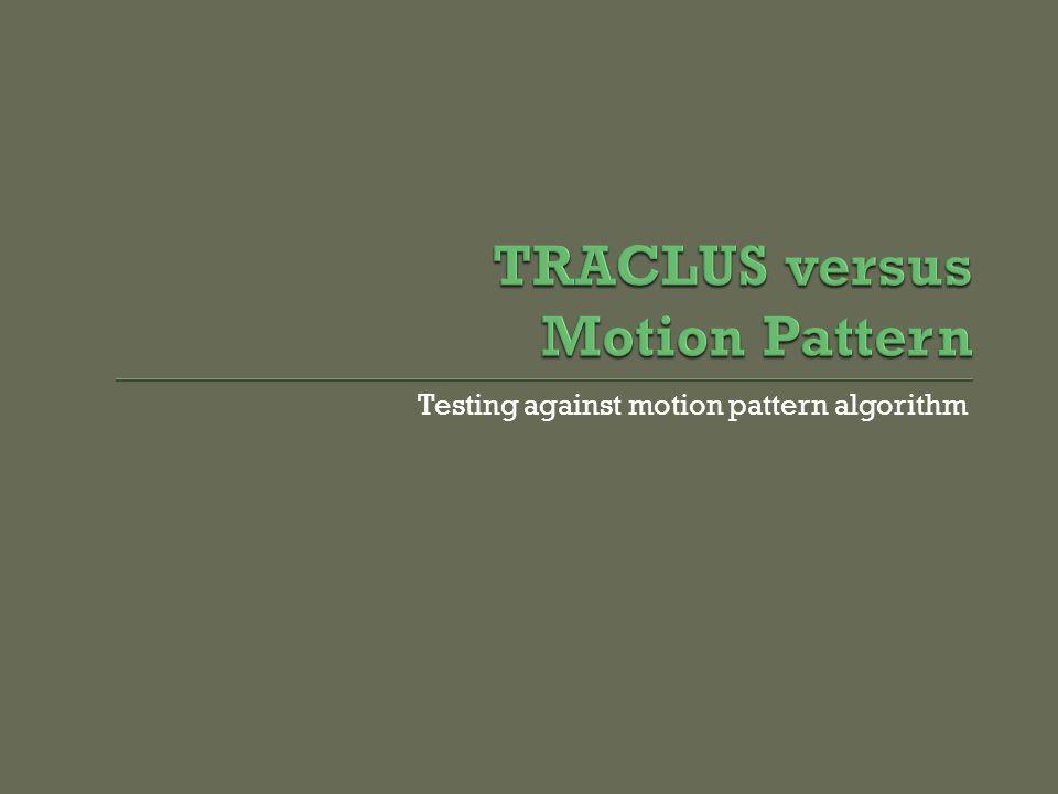 Testing against motion pattern algorithm