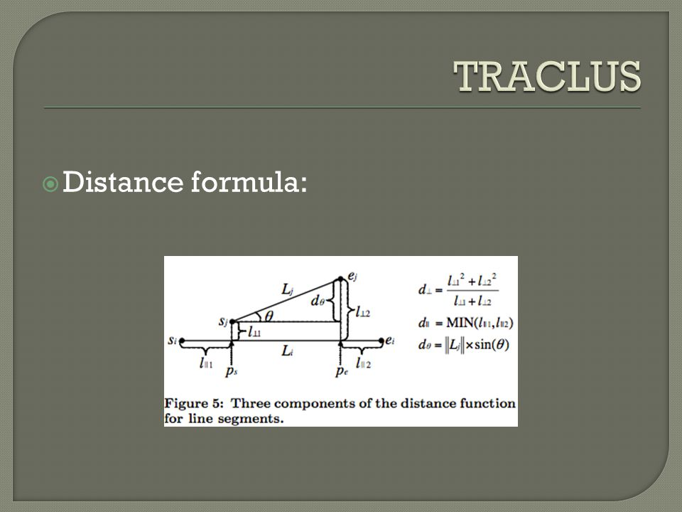  Distance formula: