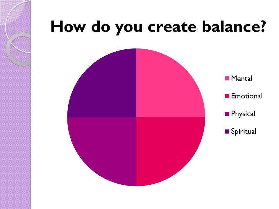 How do you create balance?