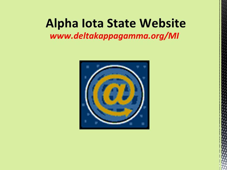 Alpha Iota State Website www.deltakappagamma.org/MI