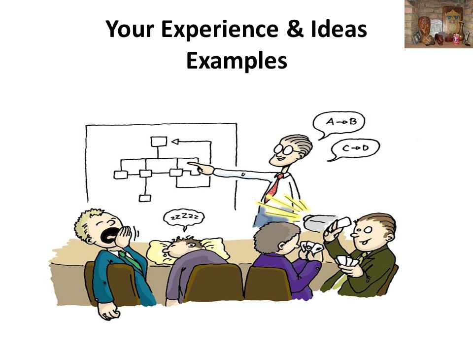 Your Experience & Ideas Examples