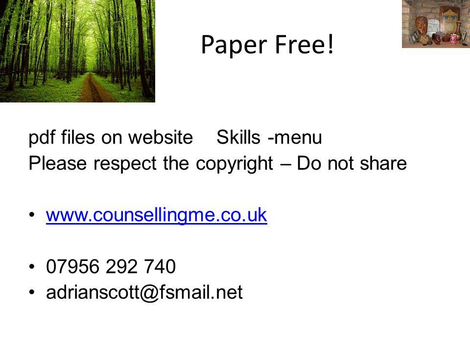 Paper Free.