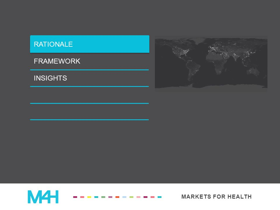 MARKETS FOR HEALTH RATIONALE FRAMEWORK INSIGHTS