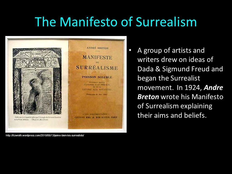 Definition of Surrealism according to Breton: SURREALISM, n.